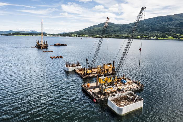 [Translate to English:] Gründung Tresfjordbrücke