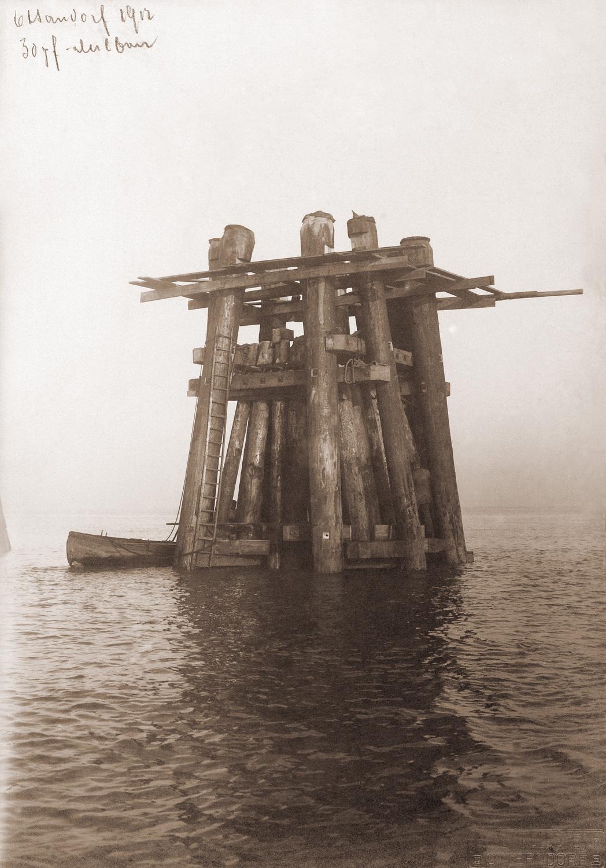 Historisches Foto mit Bündeldalben aus Otterndorf von 1912 - F+Z Hamburg